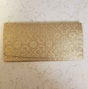 Vintage Gold and Silver Embroidered Wallet